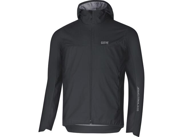 GORE WEAR H5 Windstopper Insulated Hooded Jacket Herren black/terra grey